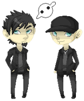 Knife Party Pixel Dolls by PervyJrocker
