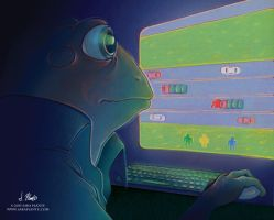 Frogger Re-envisioned by SaraPlante