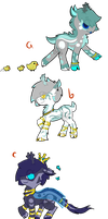 Deer-Pony Adopt Batch [Auction: Closed] by GeXeHeNNa