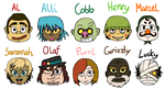 Animal Crossing gijinkas by Ol-Green-Nipples