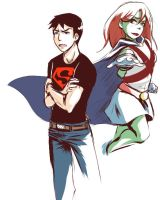 YJ : Superboy and Miss Martian by DarkHalo4321