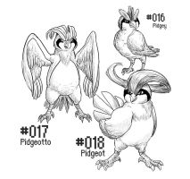 PKMN-A-DAY: The first Birds by the-b3ing