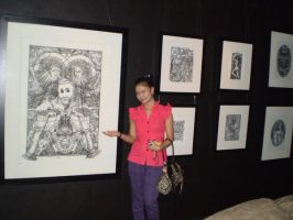 Mina with my works by gromyko