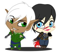 Fenris and Hawke by alamcete