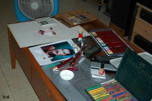 a painting in process by itailu