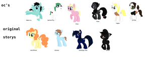pony oc's and original story girls by art-is-my-bream