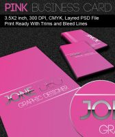 Pink Business Card by dimplegal