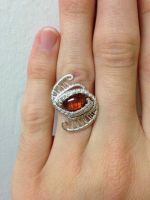 Carnelian ring  by noobwriter