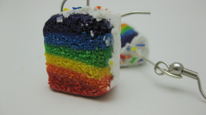 Rainbow Cake Earrings by MICAHM
