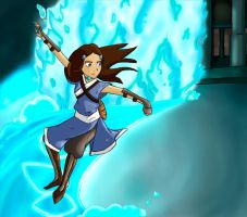 Katara and her waterbending by Lily257