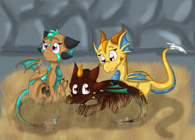 Plasmic Hatchlings by SighriaDragoness12