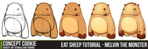 Eat Sheep Tutorial - Melvin the Monster by CGCookie