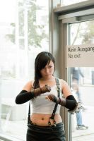 Tifa Cosplay -  Tifa defends the door by Assassayah