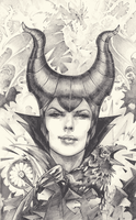 Maleficent Drawing by playkill