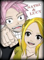 Fairy Tail: Natsu and Lucy by Oskar-Draws