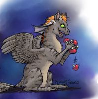 iscribble Curious critter eats mushrooms by DarkDragon774