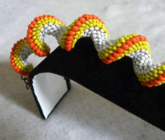 Candy Corn Halloween Bracelet by sweetdream20