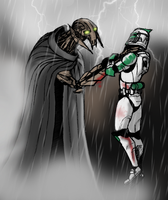 Grievous vs Trooper by Jedi-Cowgirl