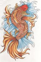 Koi Fish by LetTheRainFallDown
