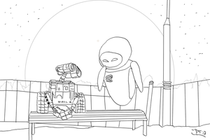 WALL*E and EVE Linework by DoranBladefist