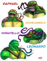 tutle portraits by ZipDraw