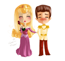 Commission - Aurora and Prince Charming by MissElysium