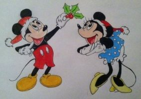 Mickey and Minnie, Merry Christmas by DaveCarignan