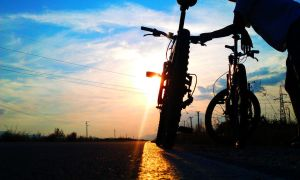 4.7.13 sunset and bicycle (2) by Bliznaka