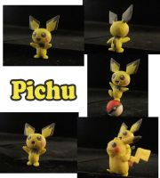 Pichu Sculpture: Collage by ClayPita