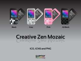 Creative Zen Mozaic Icons by guemor