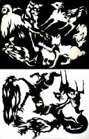 Animal Silhouettes by IceandSnow