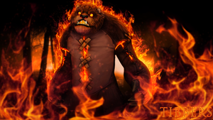 Tibbers, the world in flames by xCustomGraphix