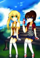 CM: Girls On A Bench by Apollyon2011