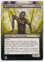 Magic Card Alteration: Puppeteer Clique by Ondal-the-Fool