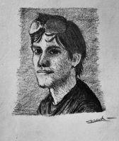 Charcoal Pencil: Happy Birthday to Cassey! (gift) by vt2000