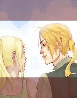 Ed and Winry by CrazySharly