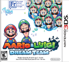 Mario and Luigi Dream Team NA boxart by Lulikat15