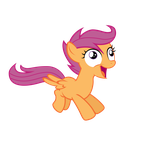 Derp scootaloo by Glitched-Nimbus