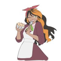 Darcy Laughing Alone With Fruit Salad by moronsonofboron