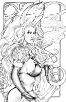 Lady Death Zodiac Taurus lines by ToolKitten