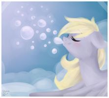 Blowing bubbles by Drawing-Heart
