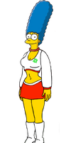 Marge Simpson As A Cheerleader by darthraner83