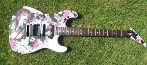My finished Guitar by TheDecadentDecline
