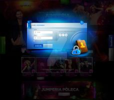Jumperia - party portal design - login panel by webdesigner1921
