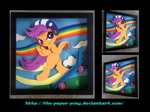 12 x 12 Scootaloo Shadowbox by The-Paper-Pony