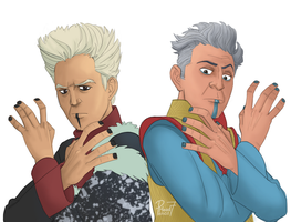 The Elders Bros by pencilHead7