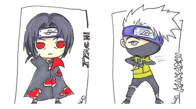 Kakashi and Itachi Chibi Commission by StarMasayume