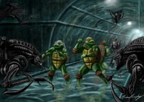 TMNT Vs. Aliens by BrianJMurphy
