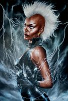 STORM 'NOT A GODDESS ANYMORE' PORTRAIT by FredIanParis