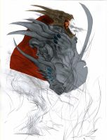 Dracotaur person working on... by indigartistic